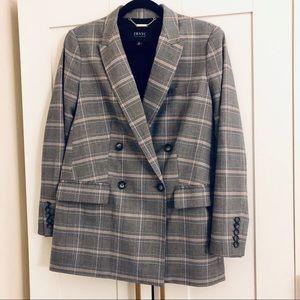 Oversized Plaid IMNYC Gray/Pink Blazer